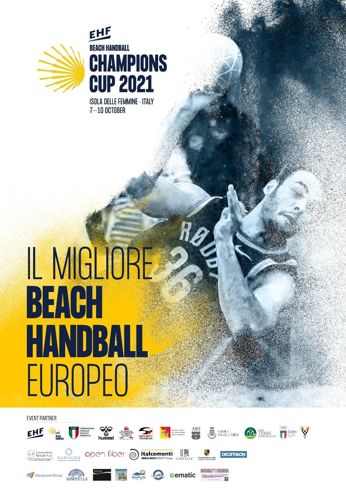 Al via la Champions Cup 2021 di Handball beach
